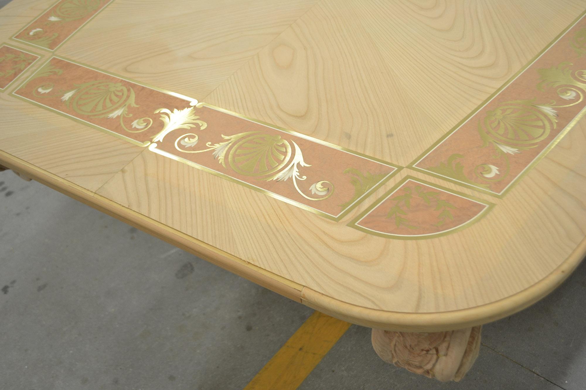 tavoli artigianali piano intarsiato